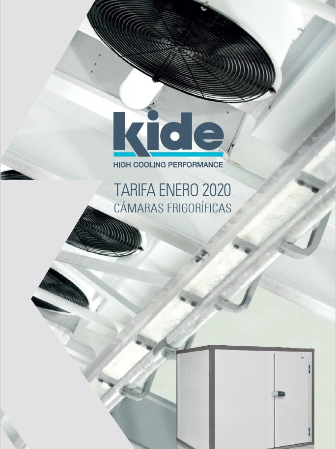 Tarifa Kide 2020 cámaras frigoríficas