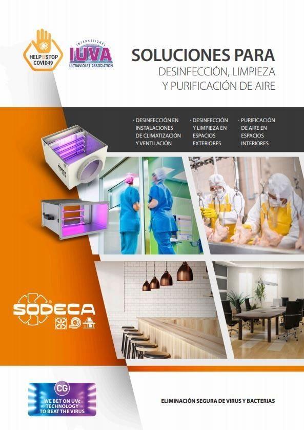Imagen de portada para el PDF Soluciones para desinfección, limpieza y purificación de aire