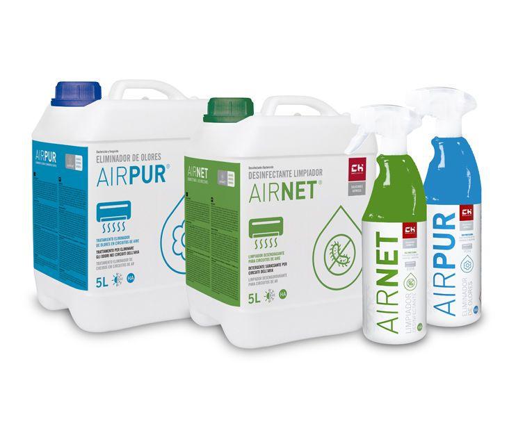 AIRPUR Y AIRNET: desinfectantes para climatización.