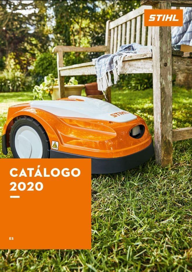 imagen de portada del catalogo de Stihl 2020