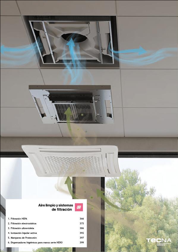 Imagen de portada para la tarifa de filtración de aire tecna 2020